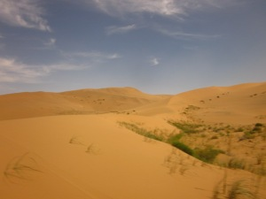 And the dunes went ever on and on...